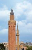 Historical Landmark Grooved Minaret Yivli Minare Kaleici Stock Photos