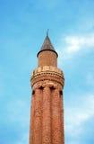 Historical Landmark Grooved Minaret Yivli Minare Kaleici Royalty Free Stock Images