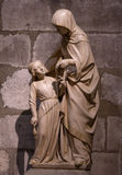 Sculpture statue Notre Dame Royalty Free Stock Image