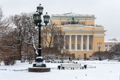 Alexandrinsky theater landmark St.Petersburg Royalty Free Stock Image