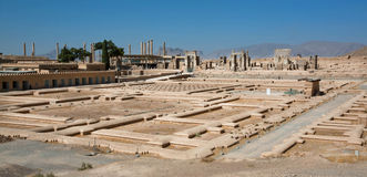 Historical landscape with ruins of Persepolis in Iran Stock Photography