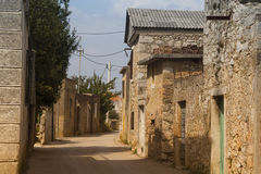 Historical lane in Croatia Stock Images