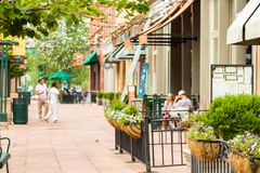 Larimer Square. Historical Larimer Square in the Summer royalty free stock photography