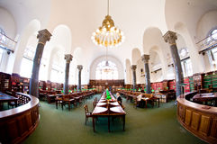 Historical library, fisheye photo Stock Image