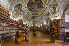 Historical library of Strahov Monastery in viena Stock Photography