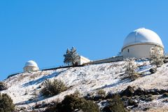 The historical Lick Observatory on top of Mt Hamilton. The historical Lick Observatory owned and operated by the University of California on top of Mt Hamilton stock photos