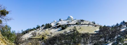 The historical Lick Observatory on top of Mt Hamilton. The historical Lick Observatory owned and operated by the University of California on top of Mt Hamilton stock image
