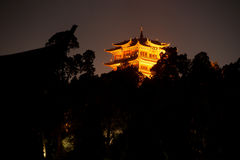 Historical Lijiang Dayan old town at night. Stock Images
