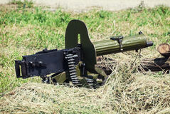 Historical loaded machine gun Royalty Free Stock Image