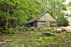 Historical Log Barn Stock Image