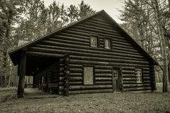 Historical Log Cabin Lodge Royalty Free Stock Images