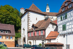 The historical Lucifer tower in Horb on the Neckar Stock Images