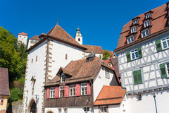 The historical Lucifer tower in Horb on the Neckar Stock Photography