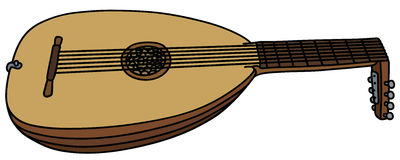 Historical lute Royalty Free Stock Image