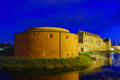 The historical Malmo Castle. Around night at Malmo, Sweden Stock Image