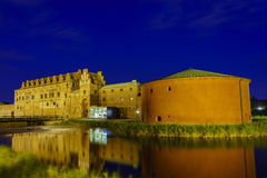 The historical Malmo Castle. Around night at Malmo, Sweden Royalty Free Stock Photography