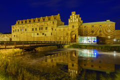 The historical Malmo Castle. Around night at Malmo, Sweden Stock Images