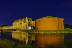 The historical Malmo Castle. Around night at Malmo, Sweden Stock Photography