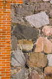 Historical manor wall background Royalty Free Stock Photos