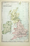Historical map of British Islands Stock Photo