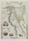 Historical map of Egypt and Arabia Stock Images