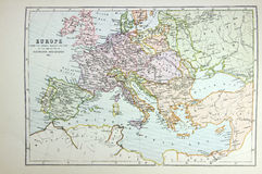 Historical map of Europe Royalty Free Stock Photography