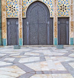 historical marble  in  antique building door morocco      style Stock Photography