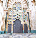 historical marble  in  antique building door morocco      style Stock Photos