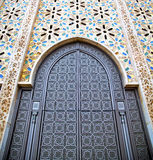 historical marble  in  antique building door morocco      style Stock Images