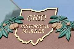 Historical Markers in Ohio. This historical markers in the buckeye state mark where great things happened in Ohio stock images