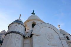 Supetar, Croatia. Historical mausoleum on a cemetery in Supetar, island Brac, Croatia stock photography