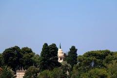 Supetar, Croatia. Historical mausoleum on a cemetery in Supetar, island Brac, Croatia stock photo