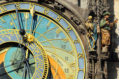 Historical medieval astronomical Clock in Prague on Old Town Hall , Czech Republic Stock Image