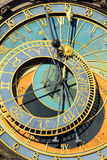 Historical medieval astronomical Clock in Prague on Old Town Hall , Czech Republic Royalty Free Stock Photography