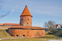 Historical medieval Kaunas castle, Lithuania Stock Photos