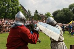 Historical, medieval, reconstruction stock photography