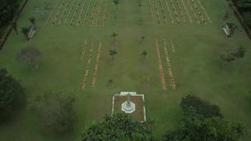 Historical memorial aerial view stock video footage