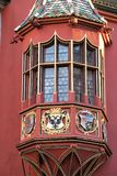 Historical Merchants` Hall. Detail of the Historical Merchants` Hall in M�nsterplatz at Freiburg, Germany, Baden Wurttenberg Royalty Free Stock Photo