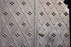 Historical metal doors background Stock Photography