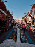 Historical Mexican craft market royalty free stock images