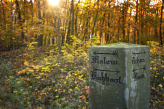 Historical mile marker Royalty Free Stock Photo