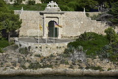 Historical Military Hospital, Entrance Gate, Menorca, Spain Royalty Free Stock Photos