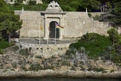 Historical Military Hospital, Entrance Gate, Menorca, Spain Royalty Free Stock Photos