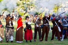 Historical military reenacting Stock Photo