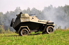 Historical military vehicle. In combat demo royalty free stock photography