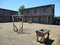 Historical miners village in lota coal mine museum Stock Photo