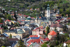 Historical mining town Banska Stiavnica Stock Photography