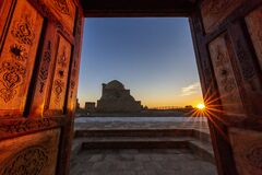Free Historical Mizdakhan Cemetery At The Sunset In Nukus, Uzbekistan Stock Photography - 187638762