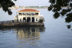 Historical Moda Pier at Day Time Royalty Free Stock Images