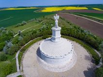 The historical monument Adamclisi in Dobrogea Romania. Of the archeological site Stock Photos